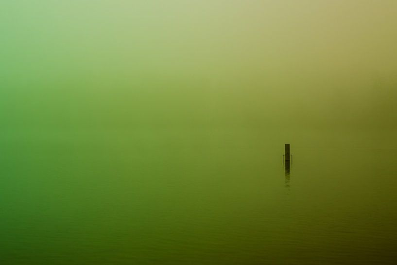 Groene  Mist over de Rijkerswoerdse Plassen van Robert Wiggers