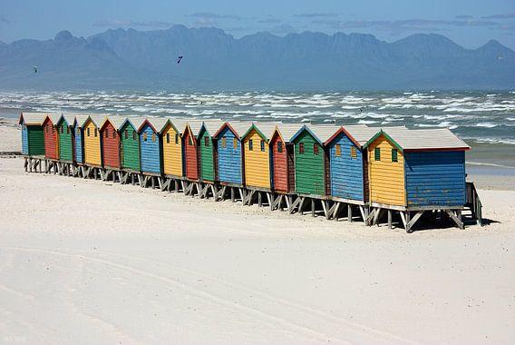 southafrica ... muizenberg beach huts III van Meleah Fotografie