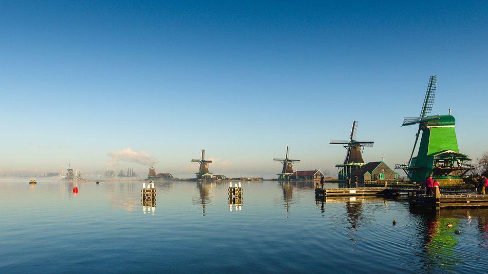 Windmolens Zaanse Schans van Tom Elst