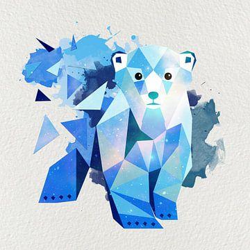 Eisbär Polygon Art sur Felix Brönnimann