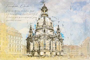 Frauenkirche, Dresden von Theodor Decker