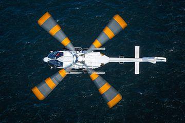 Airbus H.145 boven de Noordzee van Jimmy van Drunen