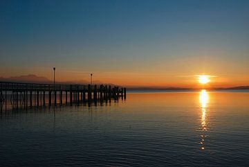 Sonnenuntergang am Chiemsee von Peter Bergmann