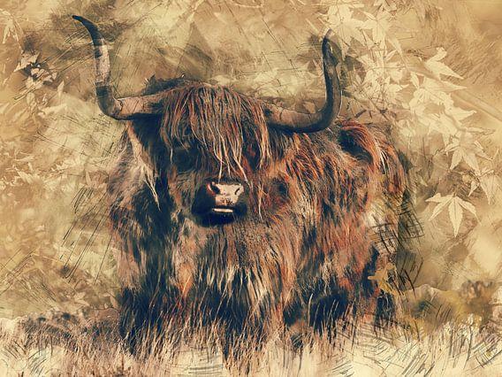 Highlander-Rindfleisch in der modernen Kunst