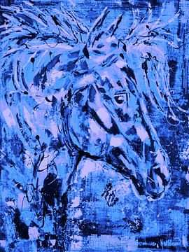 Pferd Geist Blau von Kathleen Artist Fine Art