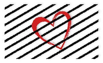 Rotes Herz-abstrakt von Marion Tenbergen