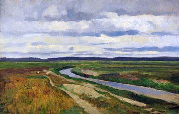 Moorkanal in der Hammeniederung, FRITZ OVERBECK, Nach 1894 von Atelier Liesjes