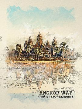 Angkor Wat van Printed Artings