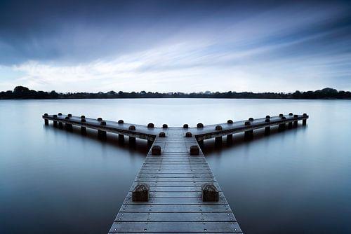 Rustige morgen bij de pier