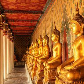 Boeddha beelden in tempel van Ilya Korzelius