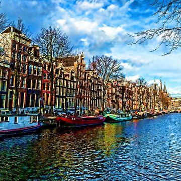 Colorful Amsterdam #103 van Theo van der Genugten