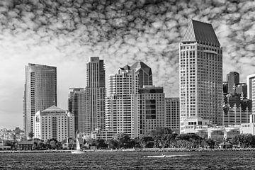 SAN DIEGO Skyline | Monochrome sur Melanie Viola