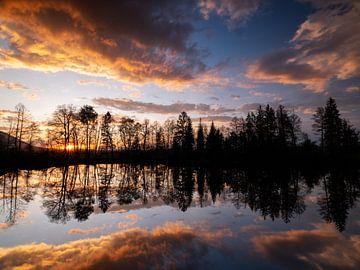 Sonnenuntergang im Murnauer Moos