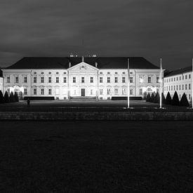 Schloss Bellevue schwarzweiss von Frank Herrmann