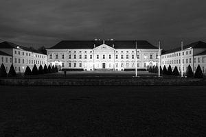 Le château de Bellevue en noir et blanc