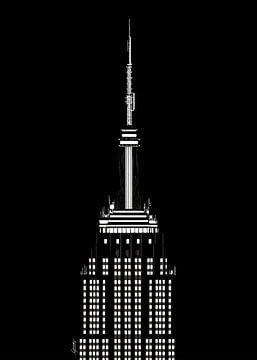 Empire State Building bij nacht van Govart (Govert van der Heijden)