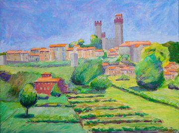 Nozzano Toscane Italy van Antonie van Gelder Beeldend kunstenaar