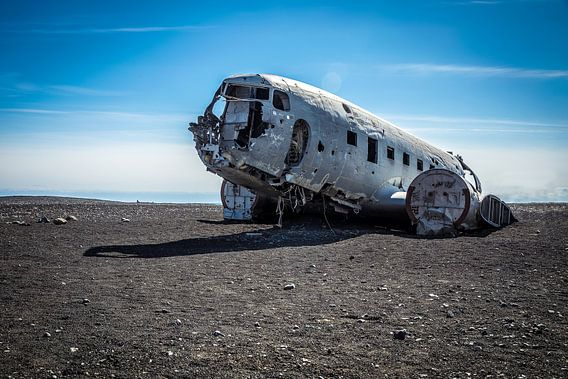 Sólheimasandur vliegtuik wrak IJsland van Chris Snoek
