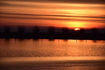 Zonsopkomst op het IJs / Sunrise at the Ice van Henk de Boer