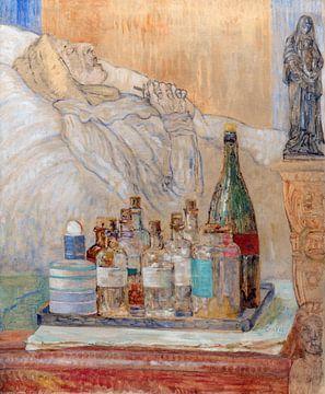 James Ensor. Die Mutter der Künstlerin auf ihrem Sterbebett