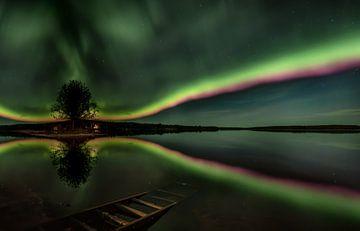 Ein Regenbogen aus Nordlichtern von Leon Brouwer