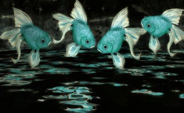 Feng Shui - blautürkis von Christine Nöhmeier