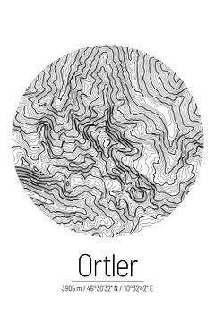 Ortler | Topographie de la carte (minimum) sur City Maps