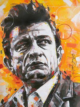 Johnny Cash peinture sur Jos Hoppenbrouwers