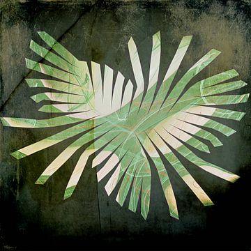 Figuren en vormen - groen uitwaaierend van Christine Nöhmeier