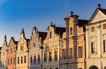 Historische Häuser auf dem Marktplatz von Telc von Marc Venema