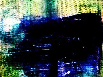 abstrakte Komposition  Blue