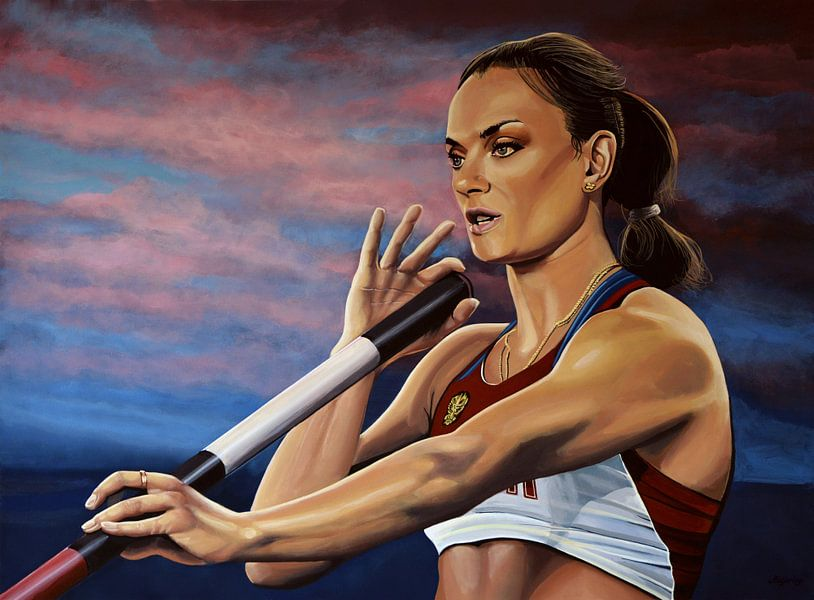 Jelena Isinbajeva schilderij