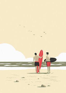 Auf die Welle warten von Rene Hamann