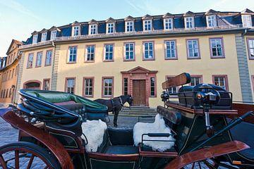 Goethe's woonhuis in Weimar van Werner Dieterich