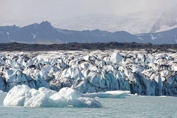 Vatnajokull gletsjer - IJsland van Barbara Brolsma