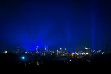 Skyline Eindhoven tijdens Glow 2020 van Noud de Greef