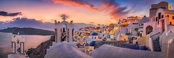 Zomeravond op het eiland Santorini in Griekenland van Fine Art Fotografie