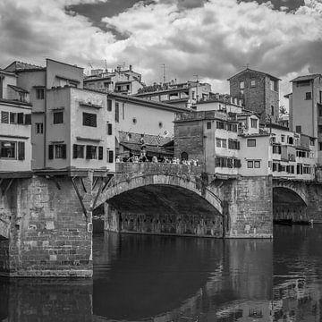 Italië in vierkant zwart wit, Florence sur Teun Ruijters
