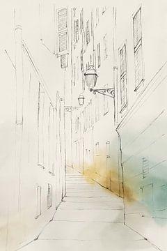 Stadt Sketch III, Isabelle Z  von PI Creative Art
