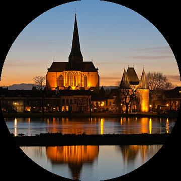 Bovenkerk met de Koornmarktspoort te Kampen van Anton de Zeeuw