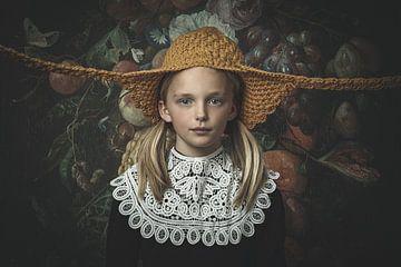 """""""Grappig, Hollands meisje"""". van Manon Moller Fotografie"""
