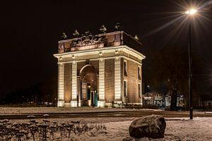 Der Koepoort in Middelburg ist in dieser Winternacht wunderschön beleuchtet. von Robbert De Reus