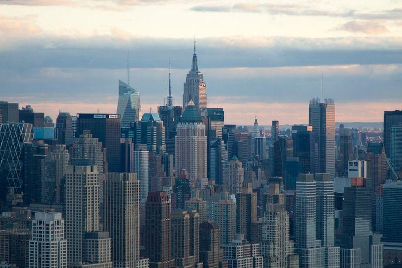 New York Skyline van Guido Akster