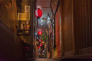 Typical Japanese alley in Osaka von Celina Dorrestein
