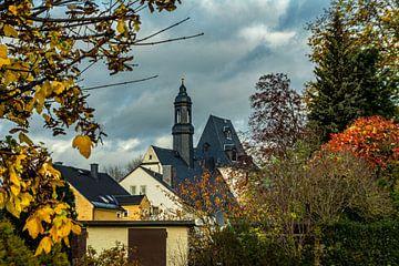 Gouden herfst in Ehrenfriedersdorf van Johnny Flash