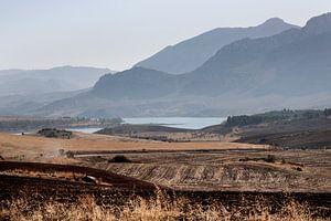 L'Espagne, paysage d'Andalousie sur la route du Caminito del Rey sur Marianne van der Zee