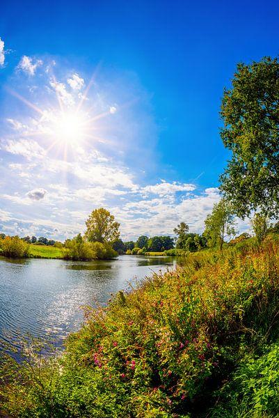 Zomer aan de rivier de Ems van Günter Albers