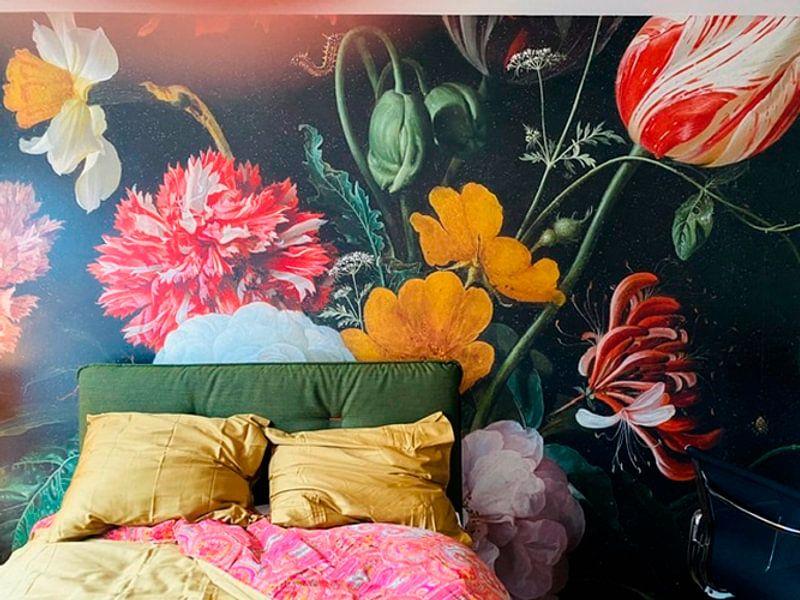 Kundenfoto: Blumenstrauß in einer Glasvase von Schilders Gilde, auf fototapete