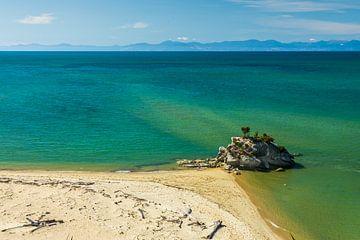 Tropischer Strand mit dem Meer bei Abel Tasman, Neuseeland von Paul van Putten