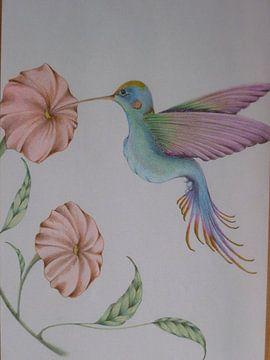 sweet kolibri van Edith Boogaard van den